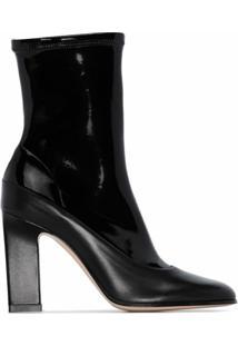 Wandler Ankle Boot Lesly De Couro Com Salto 100Mm - Preto