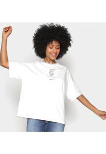 Camiseta Colcci Disney Woman Power Feminina - Feminino-Areia