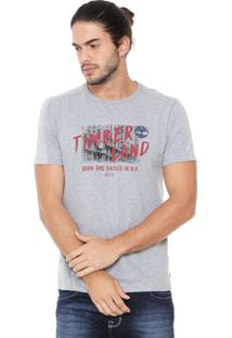 Camiseta Timberland Born And Raised Cinza