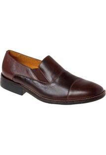 Sapato Casual Couro Sandro & Co Masculino - Masculino-Marrom Escuro