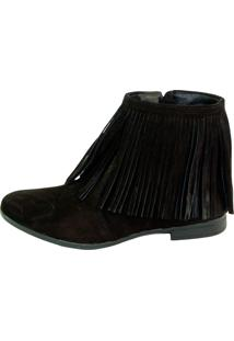 Bota Infinity Shoes Franja Preto