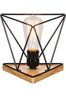Luminaria Genius Estrutura De Ferro Redonda Cor Preto 0,19 Cm (Larg) - 54092 - Sun House