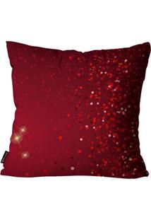 Capas Para Almofada Premium Cetim Mdecore Natal Geométrica Vermelha 45X45Cm