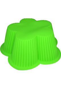 Forma De Silicone 23 Cm Flor Verde