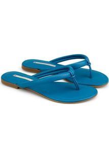 Rasteira Napa Naturale 2020 Confort Sapatinho De Luxo Feminina - Feminino-Azul Petróleo
