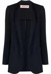 Blanca Vita Blazer Com Abertura Frontal - Azul
