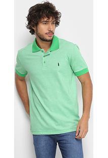 Camisa Polo Coca-Cola Mescla Color Masculina - Masculino-Verde