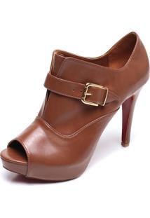 Open Boot Dafiti Shoes Fivela Marrom