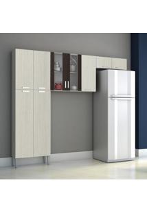 Cozinha Compacta Alfa Top 4 Pe Arena/Ebano Kits Parana