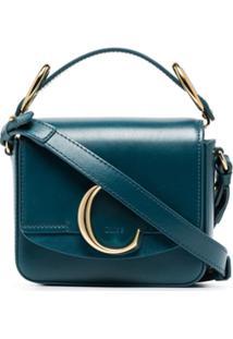 Chloé C-Embellished Mini Shoulder Bag - Azul