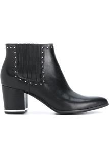 Michael Michael Kors Ankle Boot 'Gemma' Com Tacahs - Preto