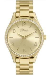 Relógio Feminino Condor Co2035Kuy/4D Pulseira Aço - Feminino-Dourado