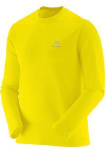 Camiseta Masculina Salomon Comet Ls Amarelo Tam. M