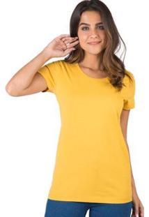 Blusa Básica Taco - Feminino-Amarelo