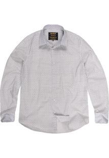 Camisa Khelf Tricoline Gravataria Off White