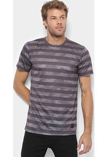 Camiseta Rusty Camuflada Listras Masculina - Masculino