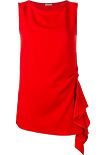 P.A.R.O.S.H. Blusa Com Drapeado - Vermelho