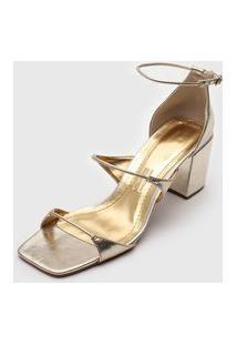 Sandália Santa Lolla Tiras Dourada