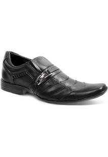 Sapato Social Masculino Bico Quadrado Side Gore Sandro Moscoloni John Preto