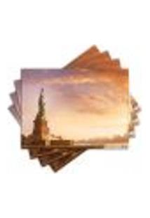 Jogo Americano - Estátua Da Liberdade Com 4 Peças - 898Jo