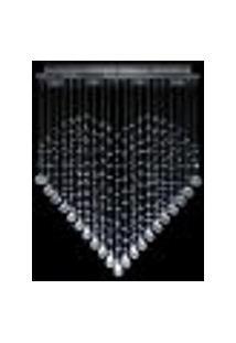 Lustre De Cristal Original Em Formato De Coração Plafon Retangular 60X16X70Cm - Jp/Kokoro/60
