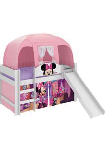 Cama Minnie Disney Play C/Escor E Barraca Branco Pura Magia