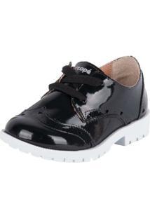 Sapato Oxford - Ortopé - Feminino-Preto