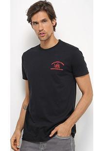 Camiseta Bulldog Fish Caveira Masculina - Masculino-Preto