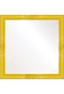 Espelho Brilho Rococo Amarelo 36X36Cm