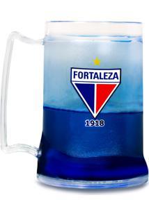 Caneca Fortaleza Sporting Club Personalizada Azul Chopp Acrílica Gel Congelável Escudo Tricolor