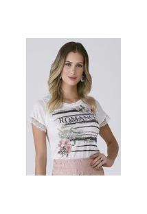 "T-Shirt Celestine Estampada ""Romance"""""""