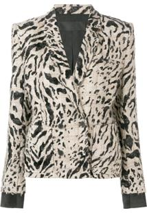Haider Ackermann Blazer Animal Print - Neutro