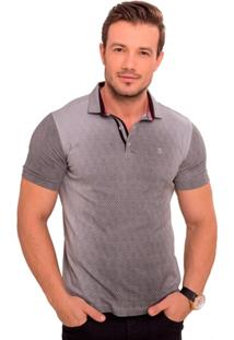 Camiseta Polo Cinza Degradê - Masculino