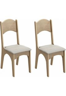 Conjunto Com 2 Cadeiras De Jantar Neo Carvalho