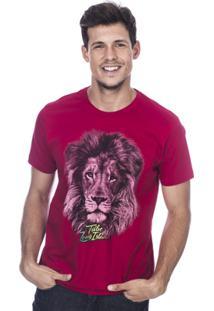 Camiseta Long Island Lion Masculina - Masculino-Vermelho