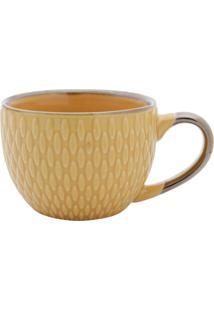 Jogo De Xícaras 6Pçs Porcelana Para Café Amarelo 90Ml Bon Gourmet