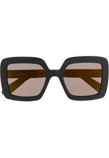 Courrèges Eyewear Óculos De Sol Quadrado Oversized - Preto