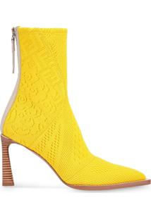 Fendi Ankle Boot Tronchetto - Amarelo