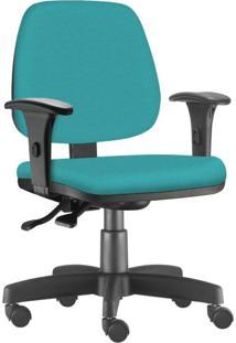 Cadeira Giratória Executiva Lyam Decor Job Corino Turquesa