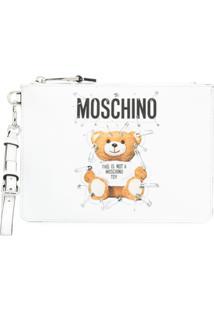 Moschino Bolsa Clutch 'Teddy Bear' - Branco