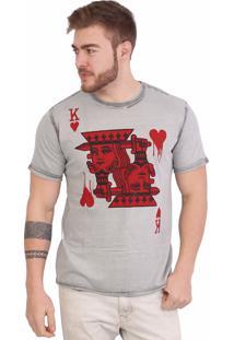 Camiseta Royal Brand Blood King Cinza