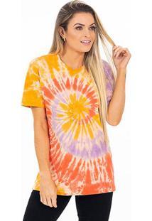 Camiseta Energia Natural Tie Dye - Unissex-Amarelo+Vermelho
