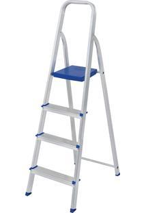 Escada Alumínio 4 Degraus 5102 Capacidade De 120Kg - Mor