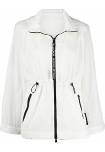 Moncler Jaqueta De Lã Com Zíper - Branco
