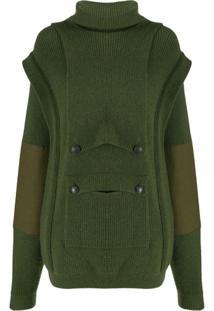 Stella Mccartney Suéter Com Sobreposição No Bolso - Verde