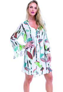 Camisao Sol E Energia Sirena Branco