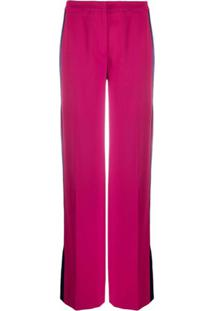 Karl Lagerfeld Calça Pantalona Cintura Alta - Rosa
