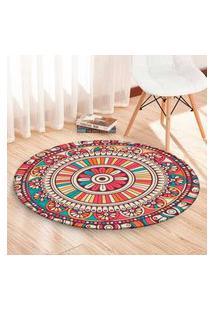 Tapete Redondo Wevans Mandala Multicolor 94Cm