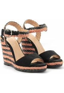 Sandália Plataforma Glendale E Brow - Feminino-Preto