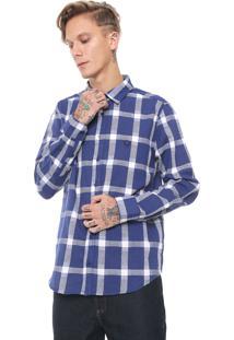 Camisa Cavalera Reta Xadrez Azul